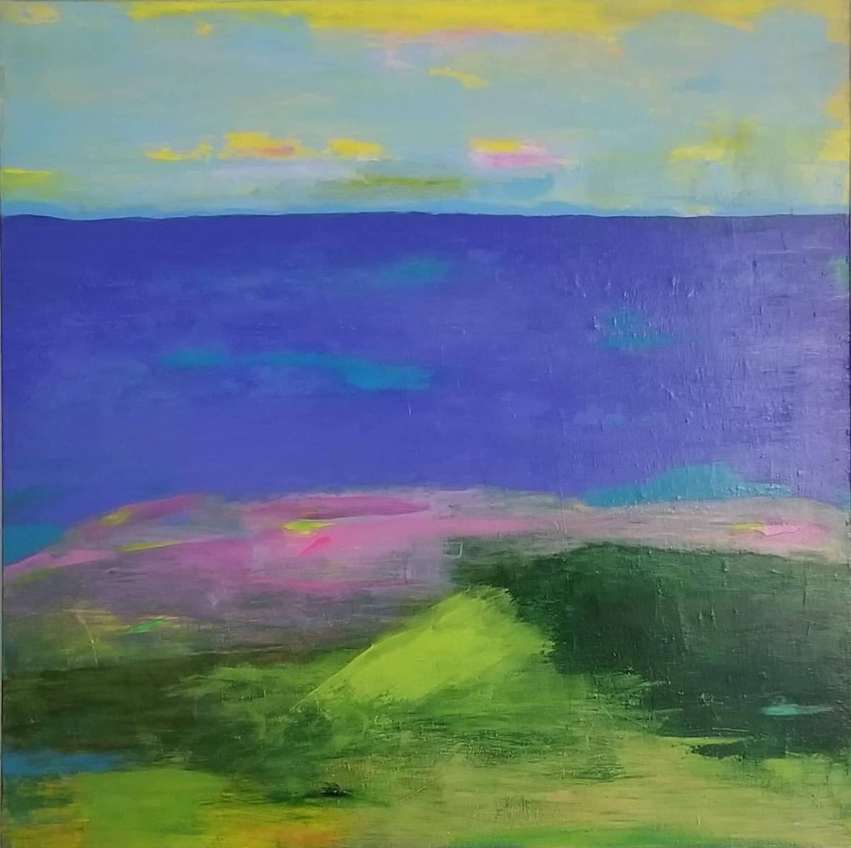 """Beach Day, 30""""x30""""<br />Acrylic on Canvas"""