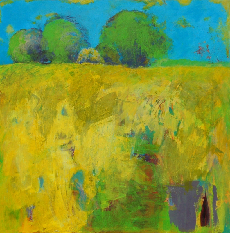"""Landscape with Yellow - 30"""" x 30"""" Acrylic on canvas"""