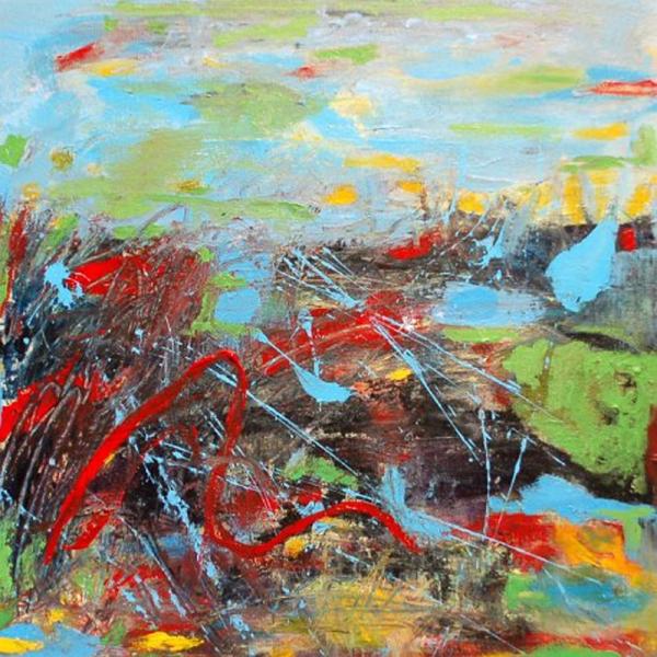 """20"""" x 20"""" Acrylic on canvas"""